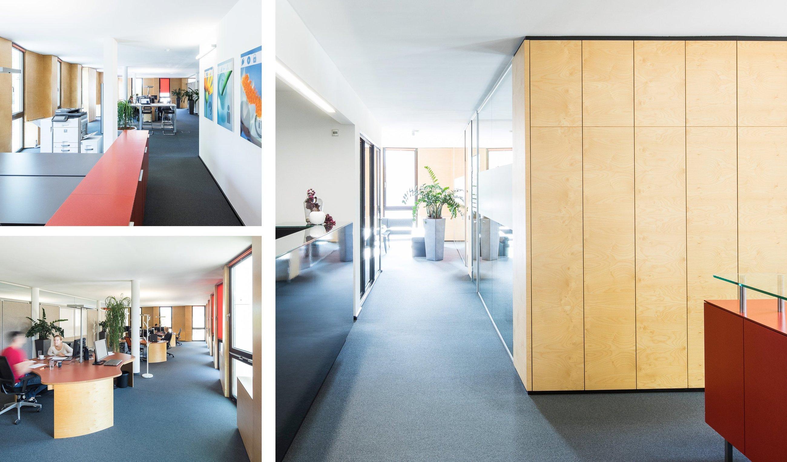 Idealer Lichteinfall für Computerplätze, Bürogebäude TIP, Dornbirn drexelarchitekten