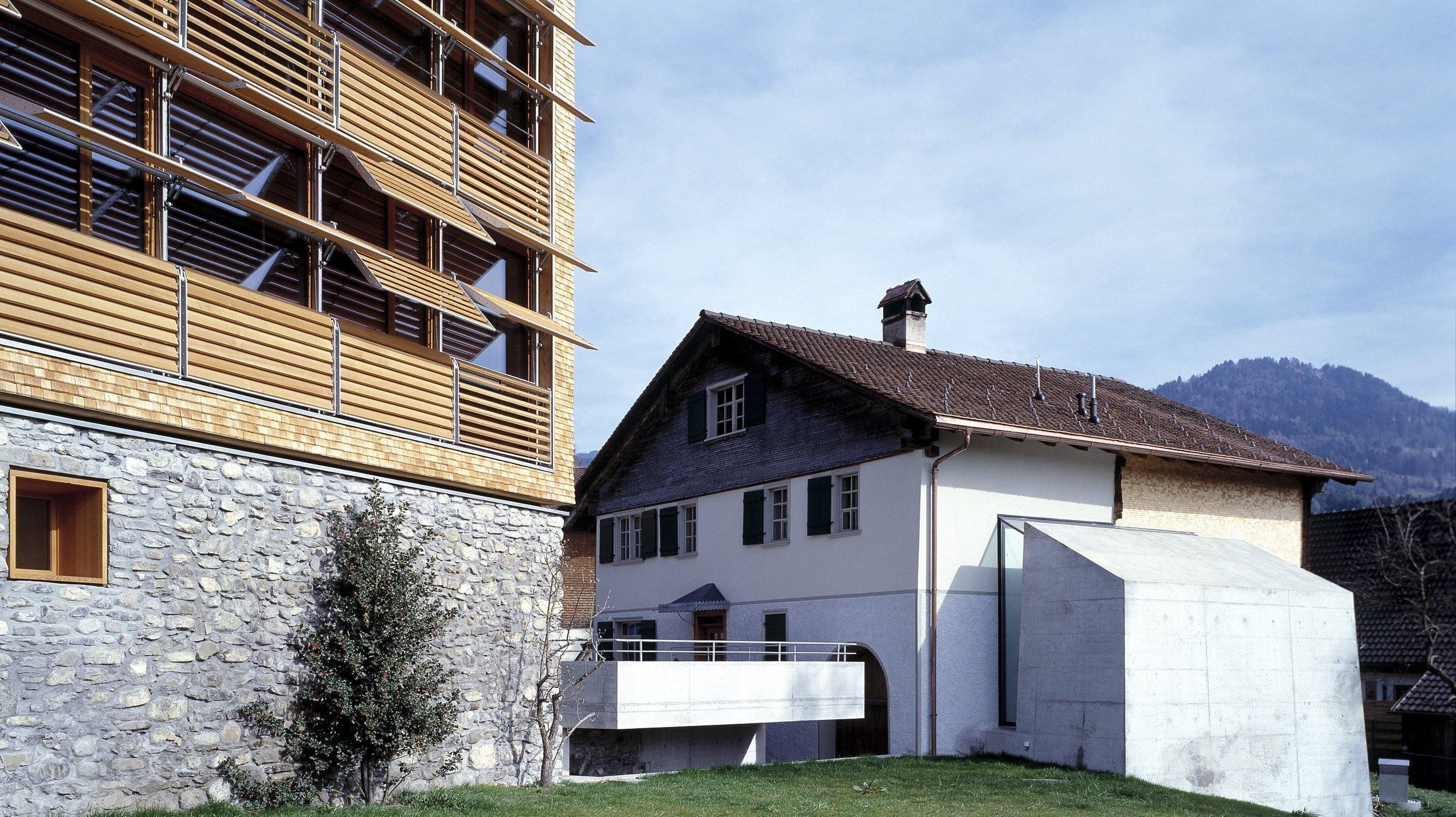 Bürohaus Frick & Vinothek Stöger, Röthis, drexel architekten